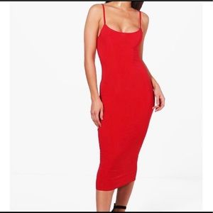 Boohoo Red Bodycon Dress